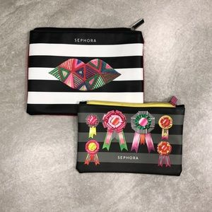 Two Sephora cosmetic bags